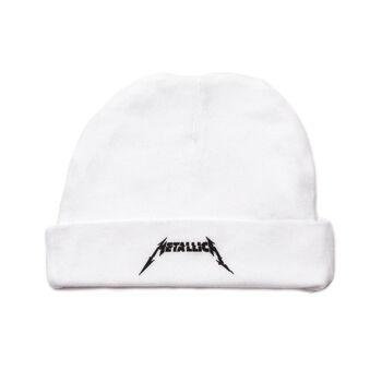 WHITE Glitch Logo Baby Hat, , hi-res