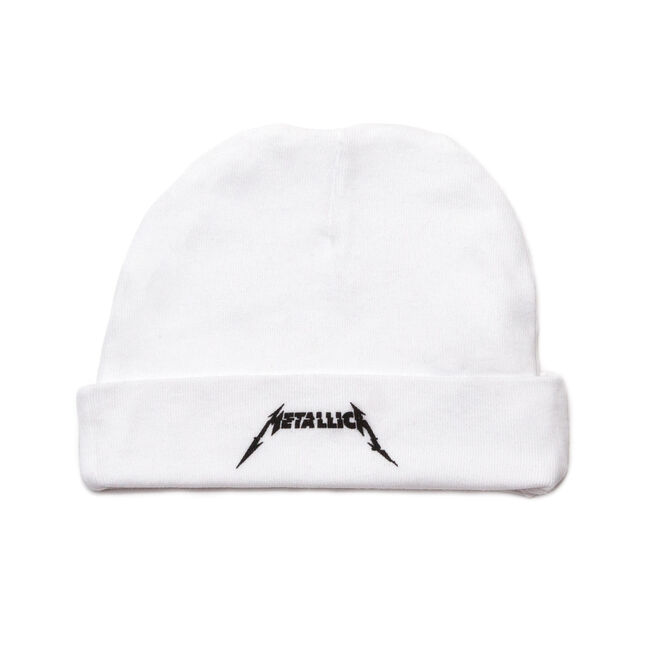 WHITE Glitch Logo Baby Hat, , hi-res