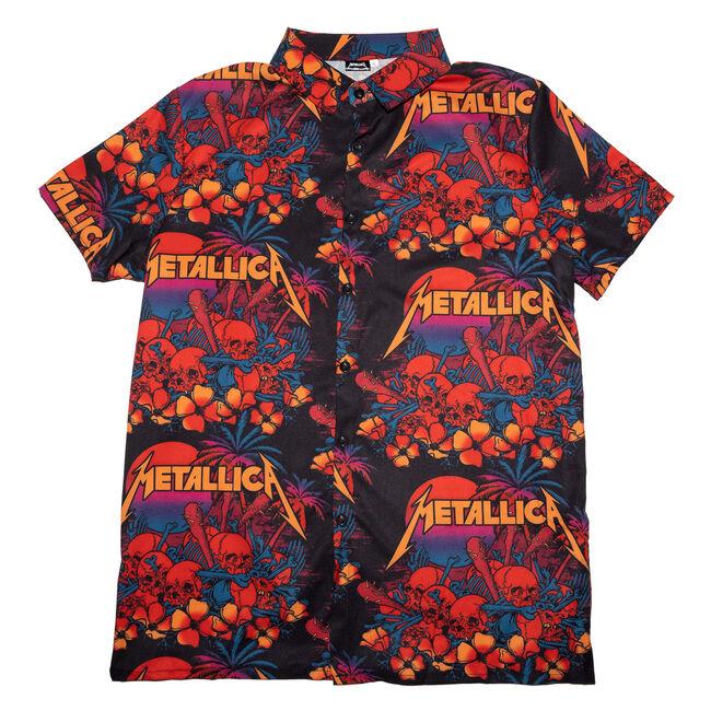 Skull Sunset Hawaiian Shirt (DARK), , hi-res