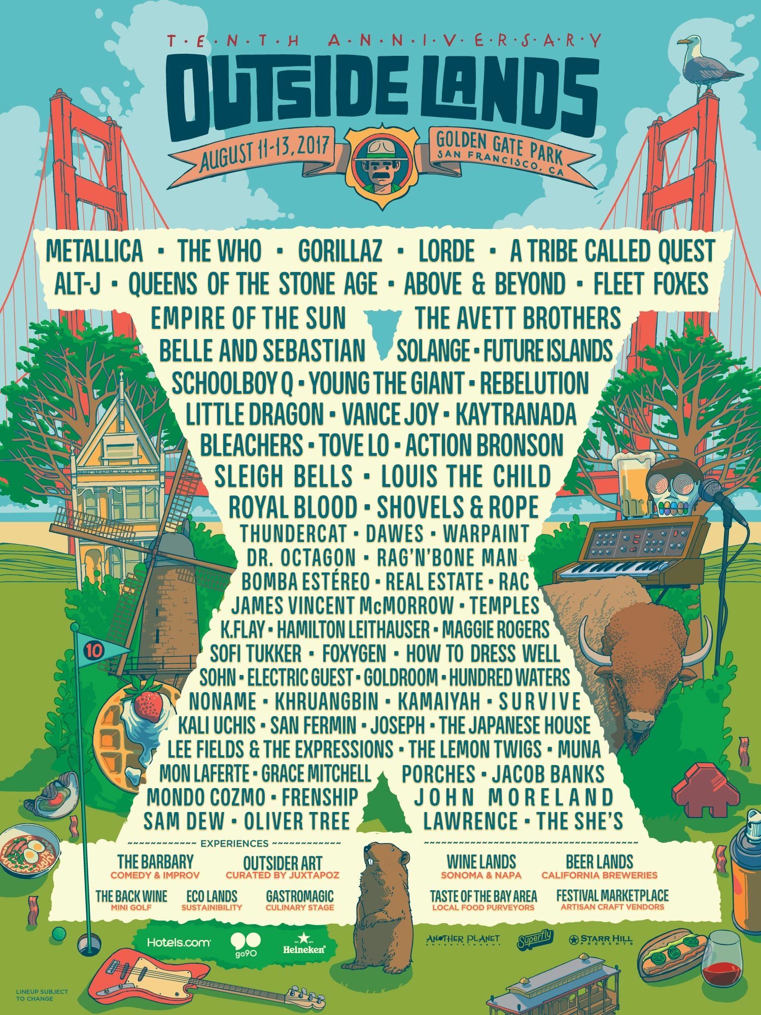 Add One To The Schedule with Outside Lands | Metallica com